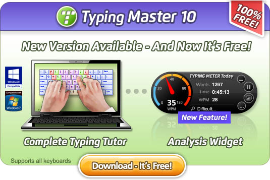 Free Typing Tutor for Windows