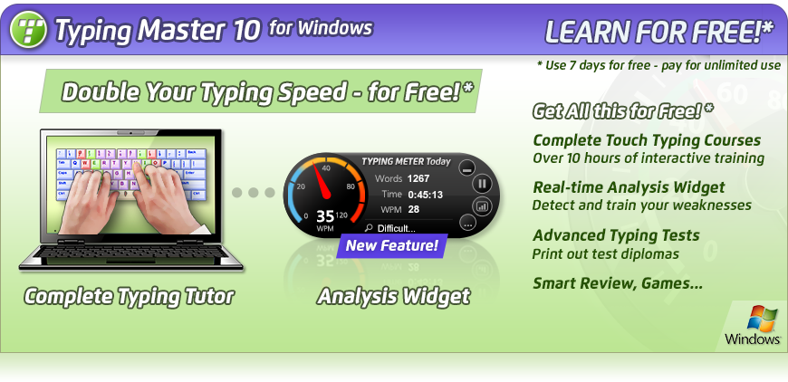 Keyblaze free typing tutor download.